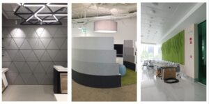rigid curved sound absorbing panels
