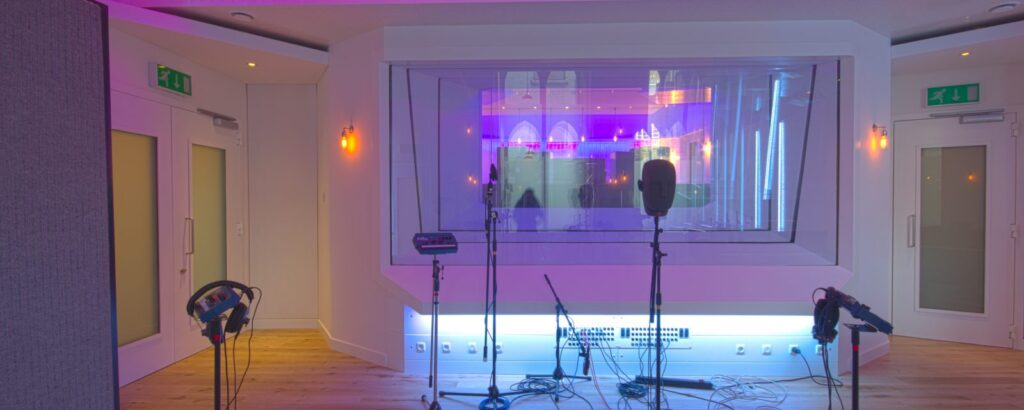 Studio with lighting